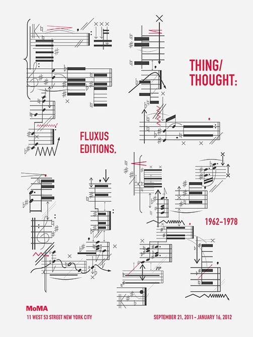 Thing/ Thought: Fluxus Editions 19621978 Exhibition Poster - Graphis