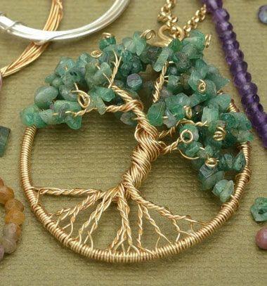 How to make a wire wrapped tree of life pendant // Életfa medál házilag drótból és féldrágakövekből // Mindy - craft tutorial collection // #crafts #DIY #craftTutorial #tutorial #Beading #BeadCraft #Gyöngyfűzés