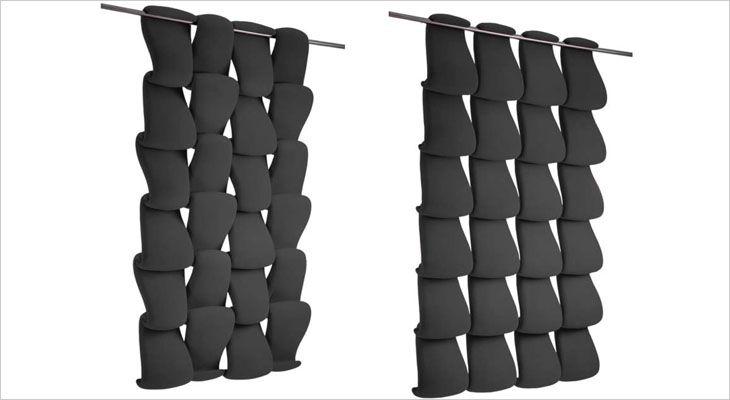 Airwave ceiling mounted acoustic partition and room divider. Lofts monteret akustisk skillevæg og rumdeler.