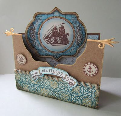 I'm a Little Teapot...: JustRite Kraft card for Dad/Super awesome masculine card!