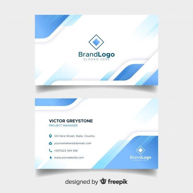 Modelo De Cartao Elegante Com Desenho Geometrico Business Card Template Photoshop Elegant Business Cards Vector Business Card