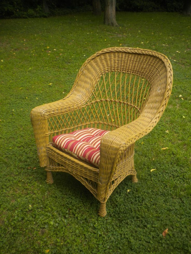 Vintage Bar Harbor Wicker Arm Chair Circa 1920's - 177 Best American Antique Wicker Furniture Images On Pinterest
