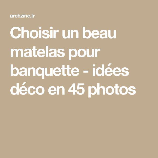 Choisir un beau matelas pour banquette - idées déco en 45 photos