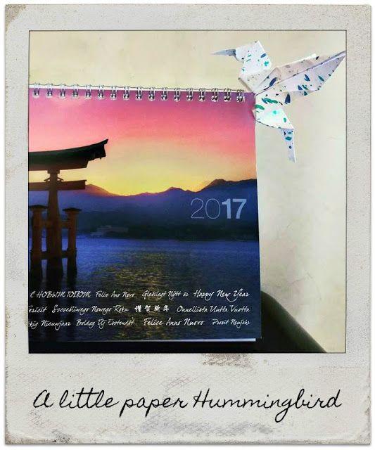 Origami Hummingbird http://sophiaslullaby.blogspot.gr/2017/09/a-little-paper-hummingbird.html