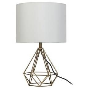 Geometric Metal Small Table Lamp (Includes CFL bulb) - Room Essentials™ : Target