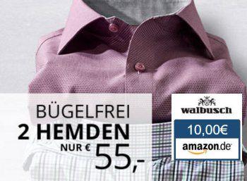 """Walbusch: Bügelfreie Hemden im Doppelpack für 45 Euro dank Amazon-Gutschein https://www.discountfan.de/artikel/klamotten_&_schuhe/walbusch-buegelfreie-hemden-im-doppelpack-fuer-45-euro-dank-amazon-gutschein.php Bei Walbusch können sich Discountfans ab sofort wieder zwei bügelfreie Hemden nach Wahl für nur 55 Euro sichern. Das Besondere dabei: Obendrein gibt es im Rahmen des """"Bonus-Angebots"""" noch einen Amazon.de-Gutschein über zehn Euro. Walbusch: Bügelfre"""