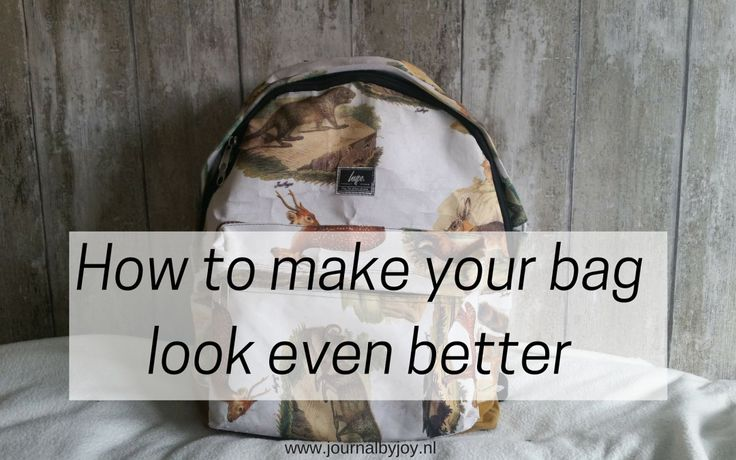 DIY: How to make your backpack look even better!