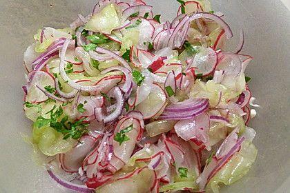 Radieschen - Gurken Salat