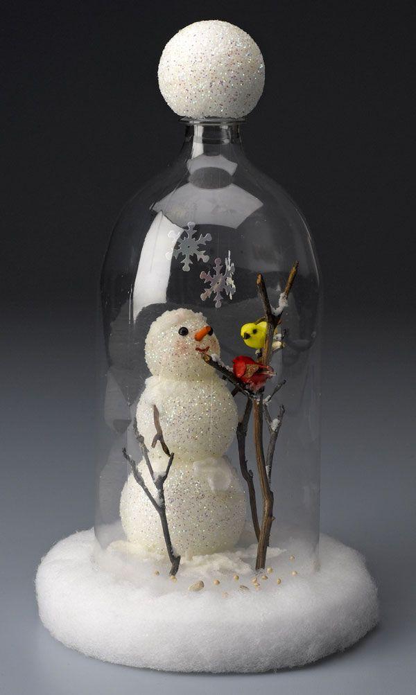 Snowman Cloche