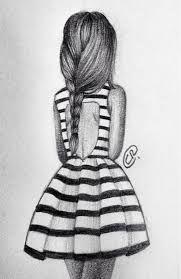 Výsledek obrázku pro cute drawing girl pencil