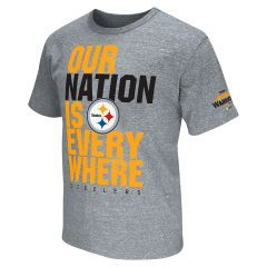 Steelers Nation Unite (SNU) Men's Grey End Zone T-Shirt