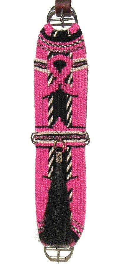 Traditional Mohair Cinches: Breast cancer awareness cinch.