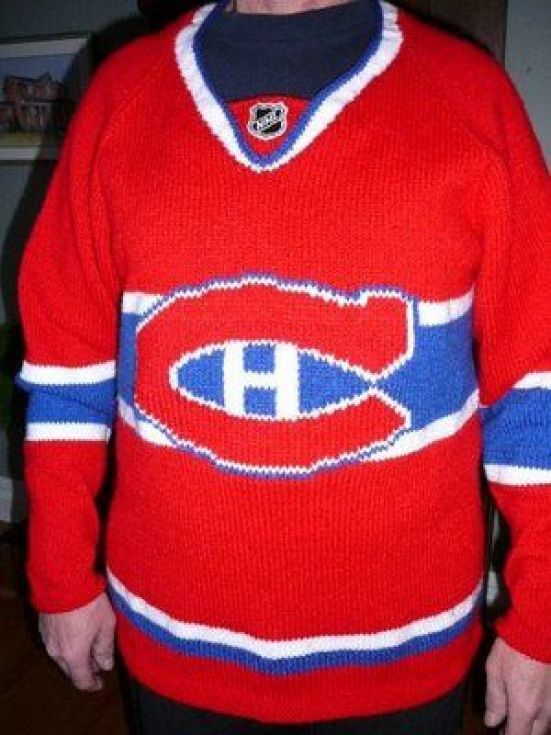 size 40 eefd6 df95b Knit Canadiens sweater.