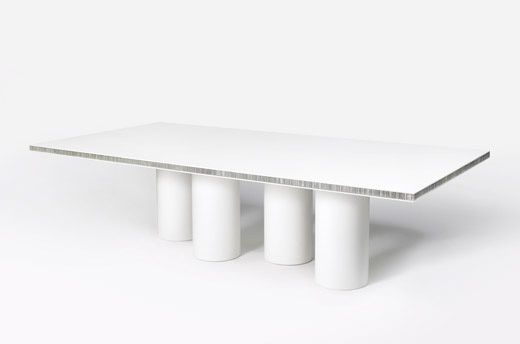 awesome corian table with aluminum honeycomb sandwiched in the top
