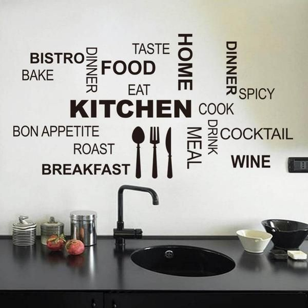 This Wall Decal Is A Beautiful Way To Change Your Kitchen Wall Into An Inspiring Contemporary Sce Kitchen Wall Stickers Kitchen Wall Quotes Wall Decor Stickers