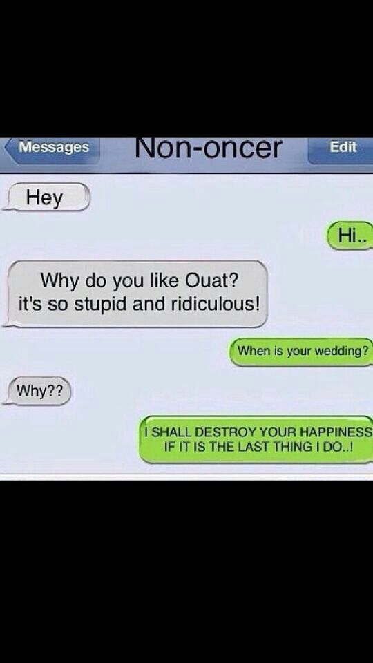 What would Ouat characters text each other? this what I think.
