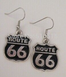 Historic Route 66 Jewelry Charm Earrings