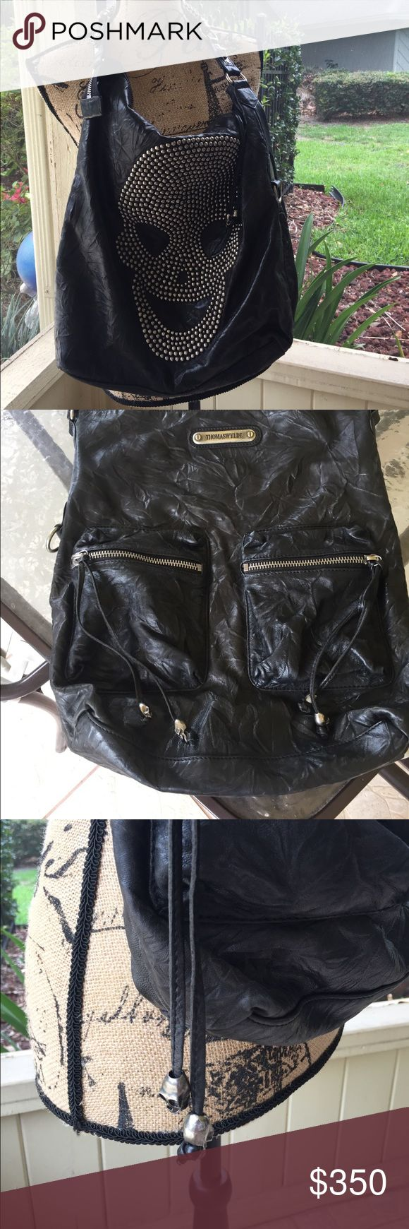"""Thomas Wylde skull  purse Purchased from a posh sista...took on one trip...for the amount of """"stuff"""" I had in bag it was uncomfortable on my shoulder Bags"""