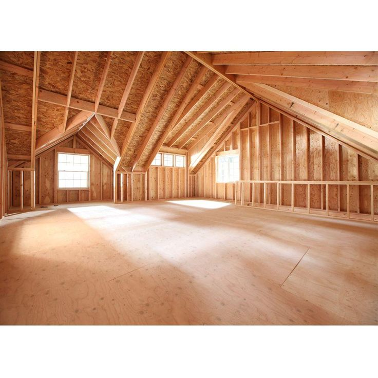 Barn Pros 2-Car 30 ft. x 28 ft. Engineered Permit-Ready Garage with Loft (Installation Not Included)-THD-BP2CARG - The Home Depot