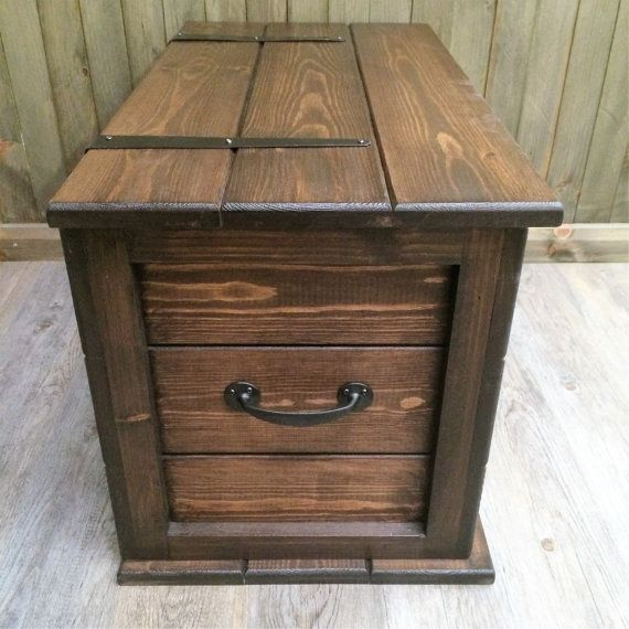 Handmade Solid Pine Storage Trunk Chest Rustic Farmhouse Toy