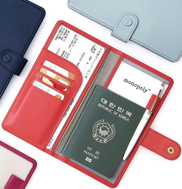 Plane Anti Skimming Passport Wallet