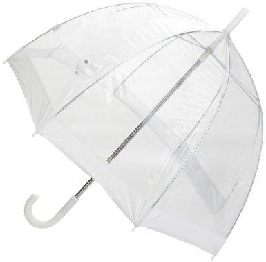 Un parapluie transparent et solide pour ne pas gâcher les photos de mariage avec un reflet coloré
