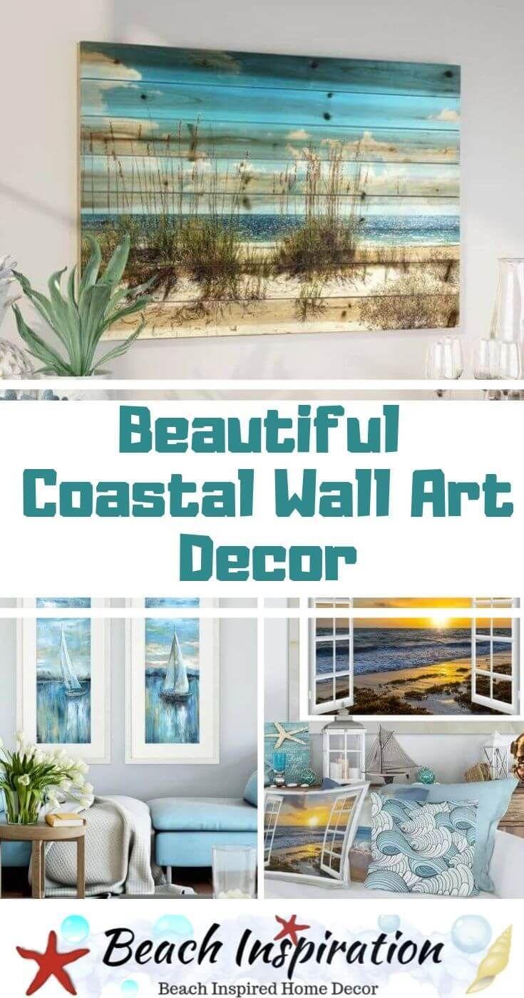 10 Beautiful Coastal Wall Art Decor Ideas Beach House Decor