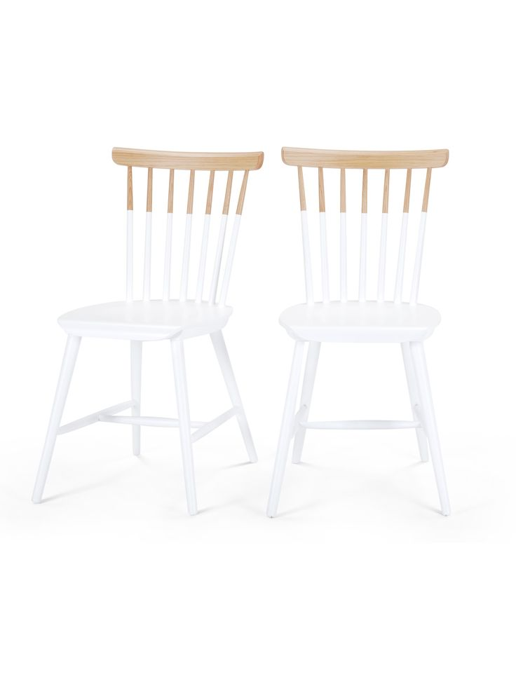 Deauville Chairs in Ash and White. £129. MADE.COM