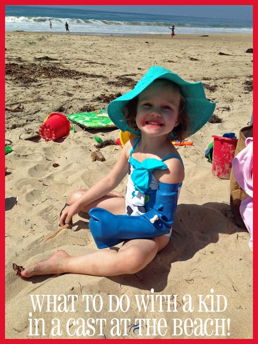 Drypro Waterproof Cast Protector Review: What to do with a kid in a cast at the beach
