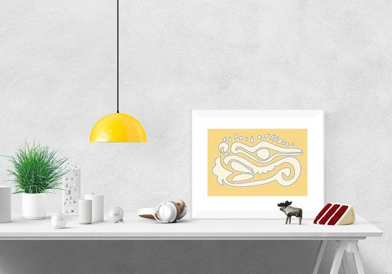 Yellow DecorWall DecorWall Art printMinimal por ColorsforNuna
