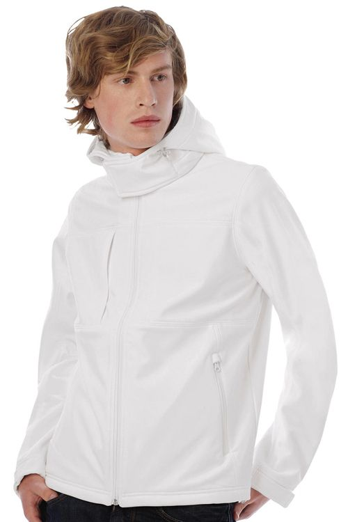 Hooded Softshell Men - JM950 B&C Collection #personalizare #jachete #geci #softshell