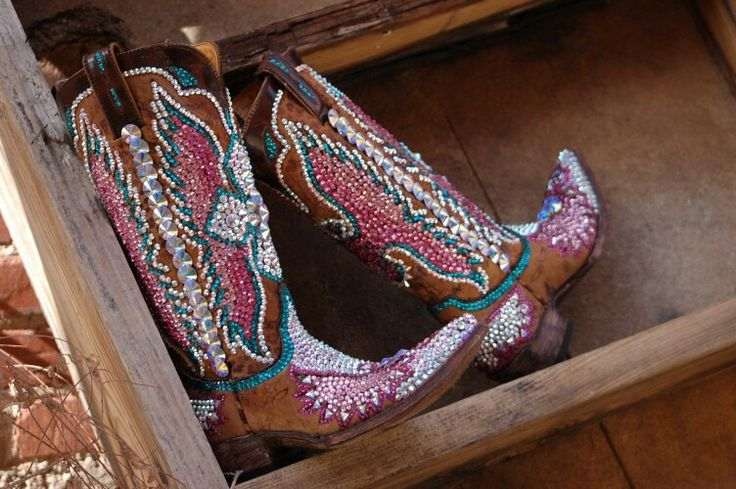 Janelles boots made by paradise swarovski bling