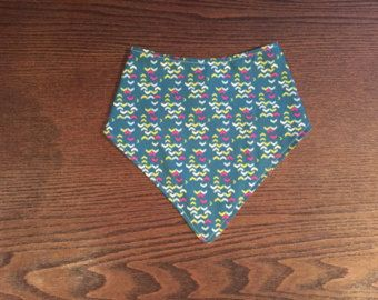 bandana bib- arrows teal pink white - Edit Listing - Etsy