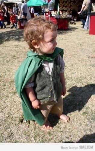 Michael has picked his favorite kids costume - Hobbit