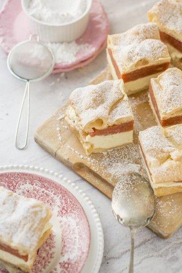 #karpatka z rabarbarem #delektujemy #cake #cream