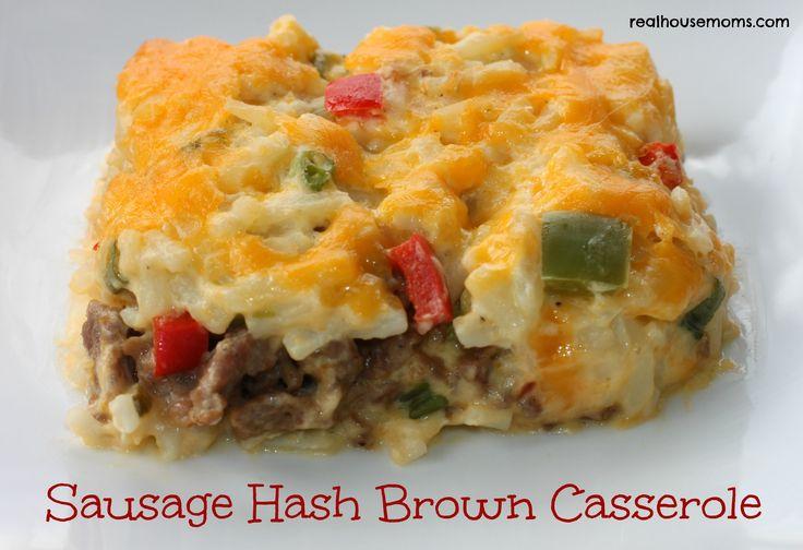 Sausage Hash Brown Casserole makes a very tasty weekend breakfast!