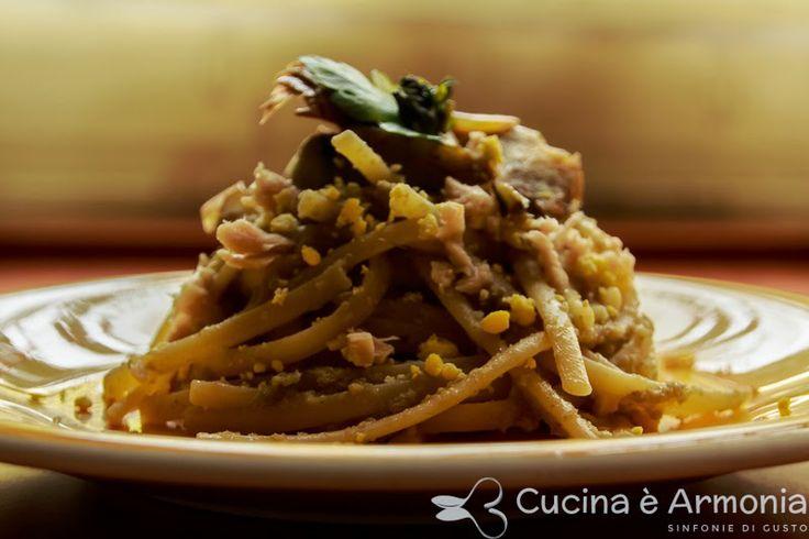 #Linguine alla #crema di #carciofi #tonno e #tuorlo #sodo http://www.cucinaearmonia.com/2014/04/linguine-alla-crema-di-carciofi-tonno-e.html #food #foodblogger #cucinaearmonia