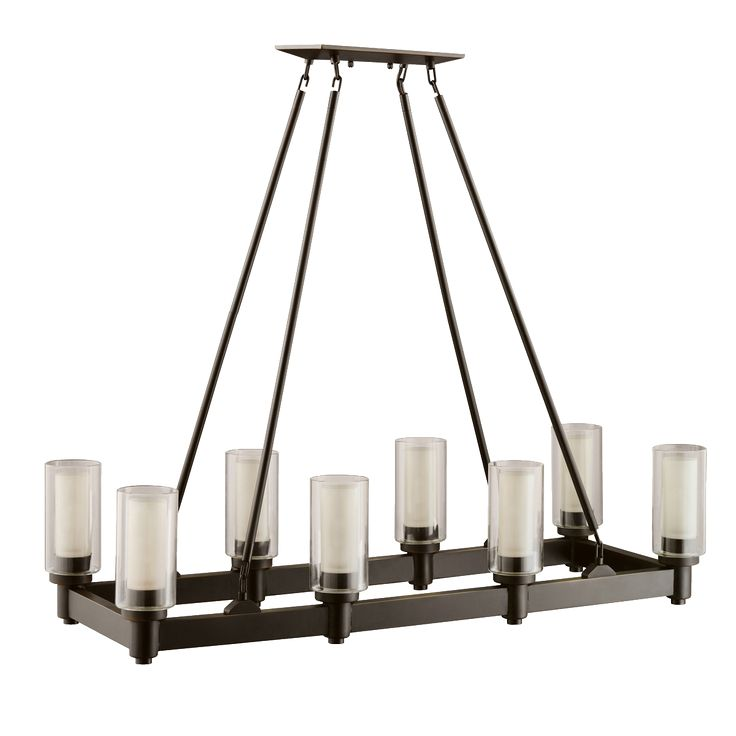 Kichler circolo collection chandelier linear 8 light in olde bronze