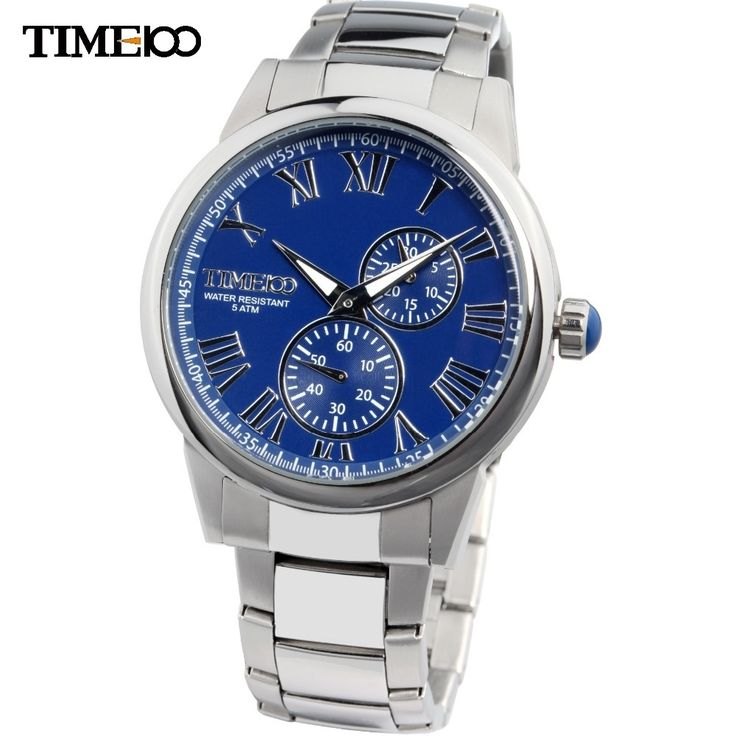 (48.17$)  Buy here - http://aiflo.worlditems.win/all/product.php?id=1704069812 - TIME100 Dynamic Cool Men's Watches Stainless Steel Strap Waterproof Luminous Hands Business Casual Quartz Wrist Watch For Men