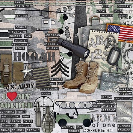 US Army Scrapbook Kit  Army of One digital by CGEssentials on Etsy