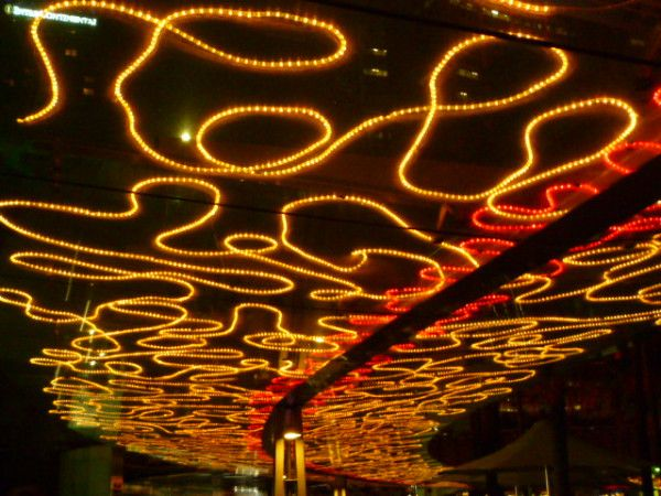 Overhead highway of lights #Sydney #vividsydney #Australia #travel Follow the yellow light road! http://ow.ly/VYex
