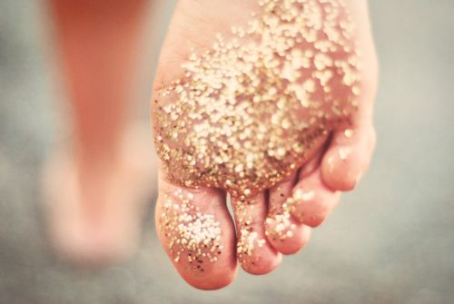 And she leaves a trail of glitter behind with every step =)