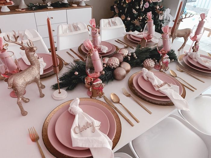 Blushing Brunch Bubbly Holiday Party Rose Gold Christmas Pink Christmas Table Rose Gold Christmas Decorations