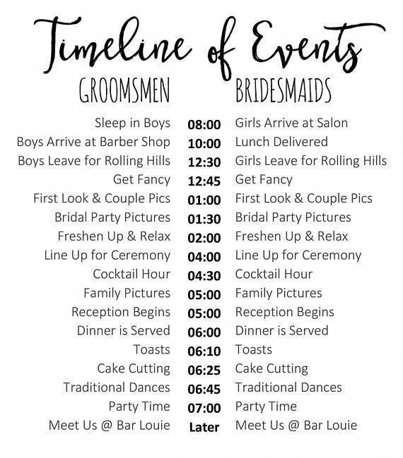 Editable Wedding Timeline Edit In Word Cute Wedding Day Etsy Wedding Day Schedule Wedding Timeline Wedding Schedule