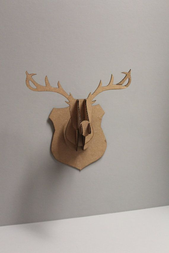1000 Ideas About Cardboard Deer Heads On Pinterest Diy Cardboard Faux Taxidermy And