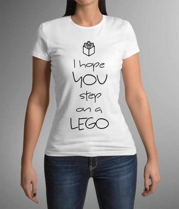 Great t-shirt! Funny print 'I hope you step on a lego'! Ladies t-shirt! Printing! Fashion! Gift Idea