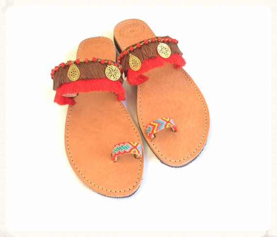 FREE SHIPPING Gypsy Sandals made of genuine by BohemianFootprints