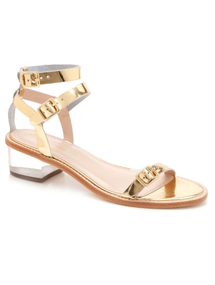 @Christine Loeffler Randall Heddie Lucite Heel Sandal, $325