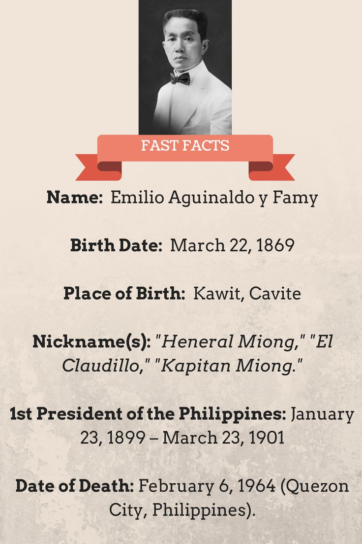 Interesting Facts About Emilio Aguinaldo