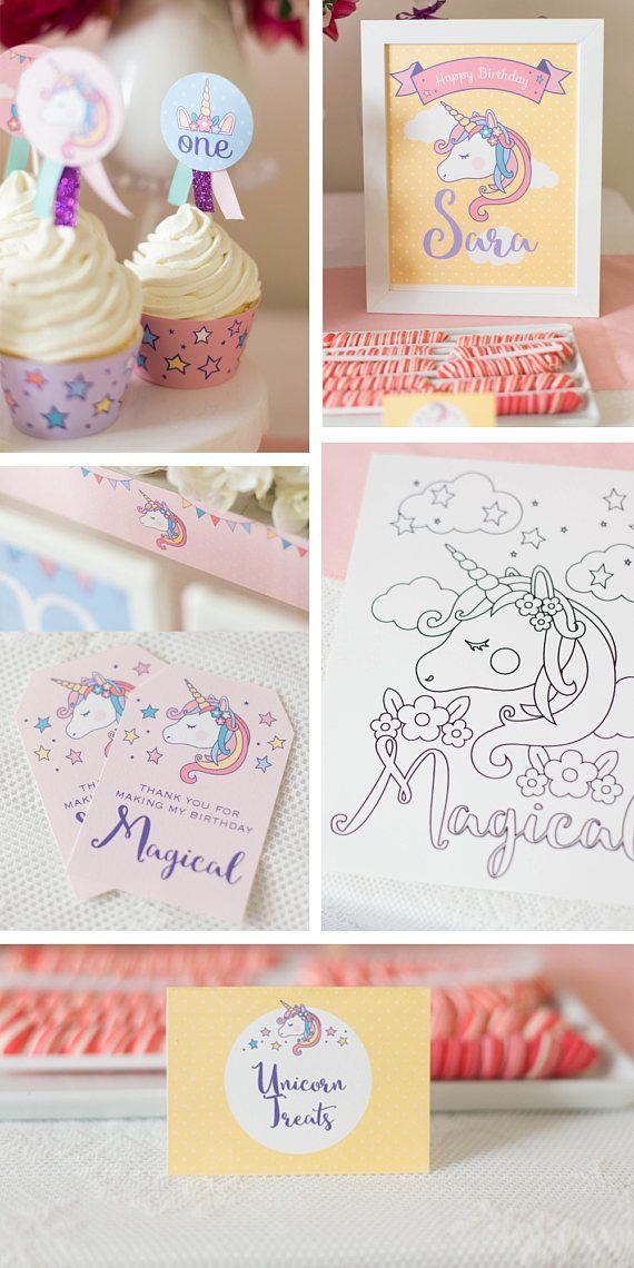 Decorazioni festa unicorno Unicorn compleanno decorazione per